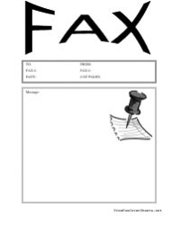 Fax Cover Sheet With Pinned Paper