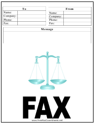 """Law Firm Fax Cover Sheet"""