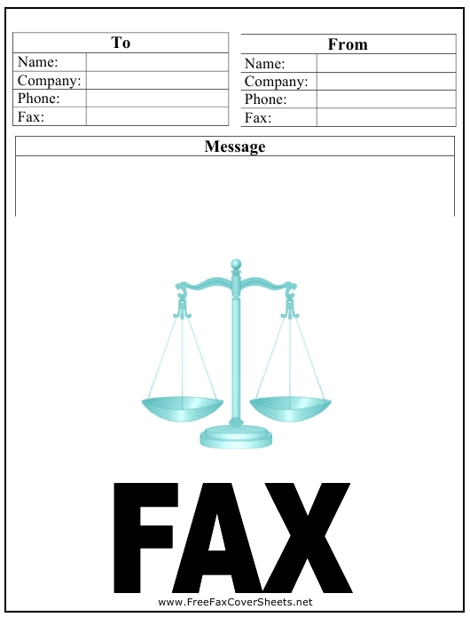 """""""Law Firm Fax Cover Sheet"""" Download Pdf"""