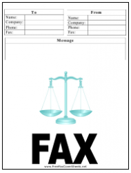 Law Firm Fax Cover Sheet