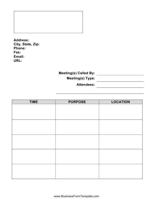 """Simple Meeting Minutes Template"" Download Pdf"