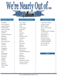 Bathroom Shopping List Template