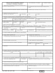 DD Form 1299 Application for Shipment and/Or Storage of Personal Property