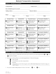 Form DMA-5047 Medicaid Transportation Assessment - North Carolina