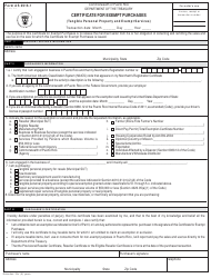 Form AS 2916.1 Certificate for Exempt Purchases (Tangible Personal Property and Exempt Services) - Puerto Rico