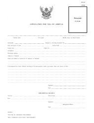 Thai Application for Visa Arrival (English/Thai) - Thailand