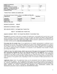 """""""Indian Visa Application Form - Embassy of India"""" - Stockholm, Sweden, Page 3"""