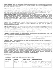 """""""Indian Visa Application Form - Embassy of India"""" - Stockholm, Sweden, Page 4"""