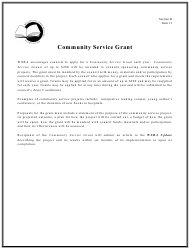 Community Service Grant Proposal Template - Wisconsin State Reading Association - Wisconsin