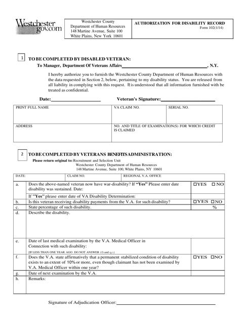 Form 102  Fillable Pdf