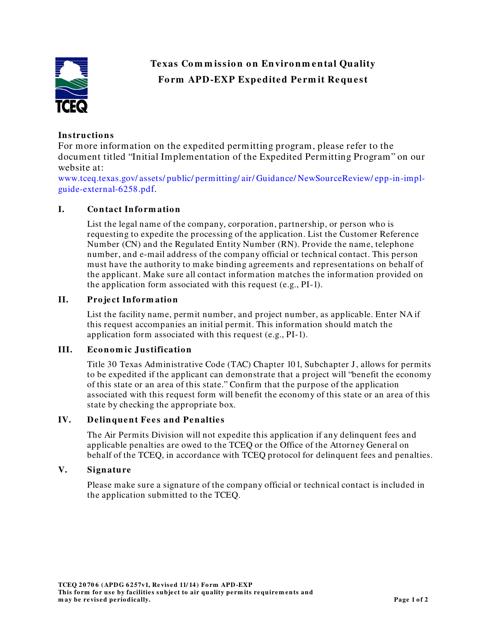Form apd-exp  Printable Pdf