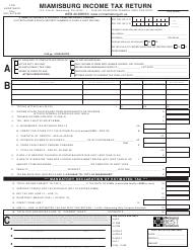 Form MQ-1 Miamisburg Income Tax Return - City of Miamisburg, Ohio