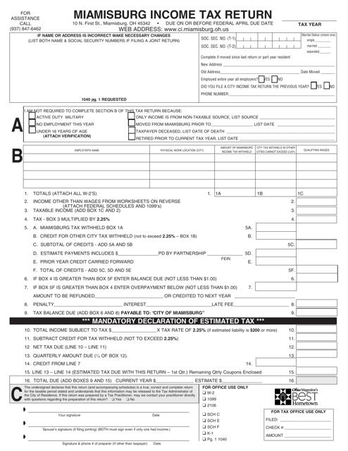 Form MQ-1 Printable Pdf