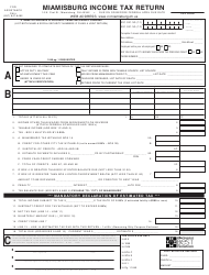 Form MQ-1 Miamisburg Income Tax Return - City of Miamisburg, Ohio
