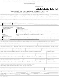 Form UITL-100 Application for Unemployment Insurance Account and Determination of Employer Liability - Colorado