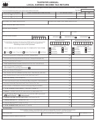 Form CLGS-32-1 Taxpayer Annual Local Earned Income Tax Return - Pennsylvania