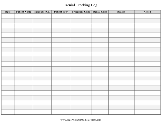 Tracking Log Template from data.templateroller.com
