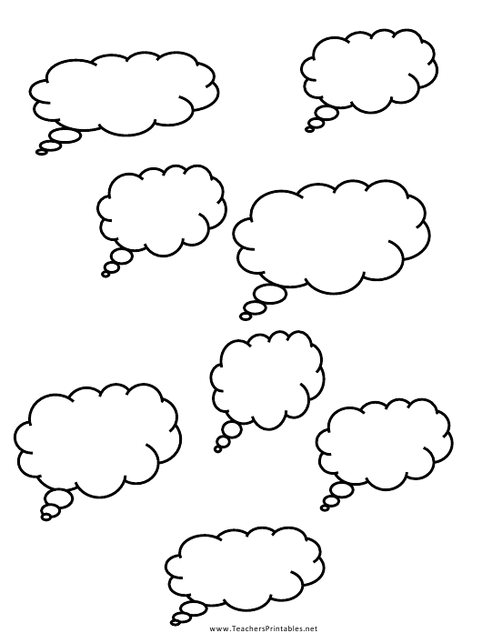"""Thought Cloud Templates"" Download Pdf"