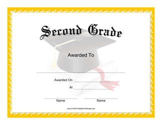 """Second Grade Certificate Template"""