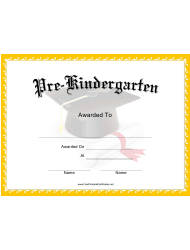 pre k graduation certificate template download printable pdf