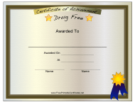 """""""Drug Free Certificate Template"""""""