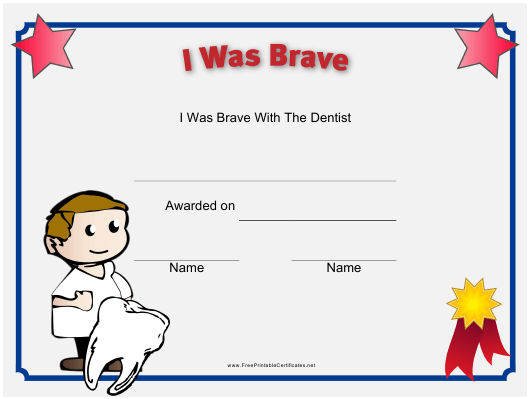 """Bravery Certificate Template"" Download Pdf"