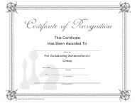 """Chess Outstanding Achievement Certificate Template"""