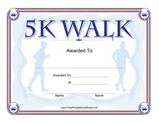 """5k Walk Certificate Template"""