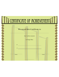 Gymnastics High Bar Certificate Of Achievement Template