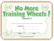 """Bicycle Certificate Template"""