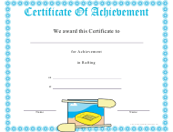 """Rafting Certificate of Achievement Template"""