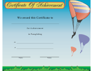 """Paragliding Certificate of Achievement Template"""