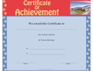 """Snowshoeing Certificate of Achievement Template"""