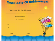 """Parasailing Certificate of Achievement Template"""