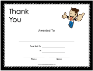 """""""Thank You Small Certificate Template"""""""