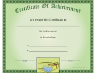 """Steeplechase Certificate of Achievement Template"""