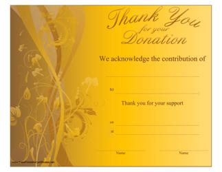 """Donation Certificate Template"""