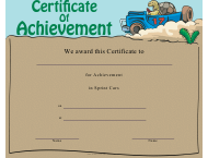 """Sprint Cars Certificate of Achievement Template"""