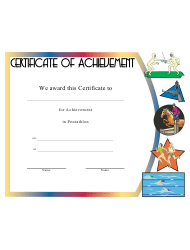 Pentathlon Certificate Of Achievement Template