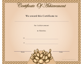 """Skittles Certificate of Achievement Template"""