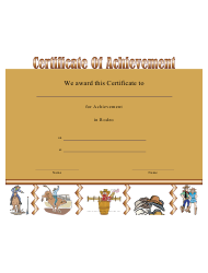 Rodeo Achievement Certificate Template