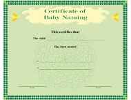"""Baby Naming Certificate Template"""