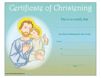 """Christening Certificate Template"""