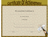 """Hunting Certificate of Achievement Template"""