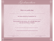 """Godmother Certificate Template"""