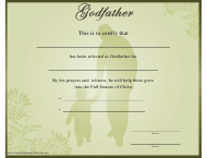 """Godfather Certificate Template"""