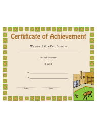 Gym Certificate Of Achievement Template