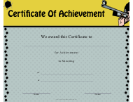"""Shooting Certificate of Achievement Template"""