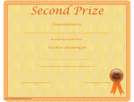 """Second Prize Certificate Template"""