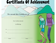 """Hiking Certificate of Achievement Template"""
